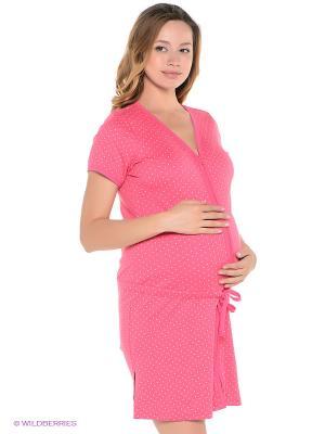 Халат для беременных ФЭСТ. Цвет: розовый