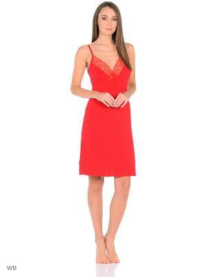 Ночная сорочка КВК. Цвет: красный