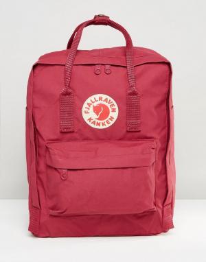 Fjallraven Сливовый рюкзак Kanken. Цвет: розовый