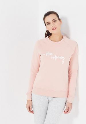 Свитшот Hey Honey. Цвет: розовый