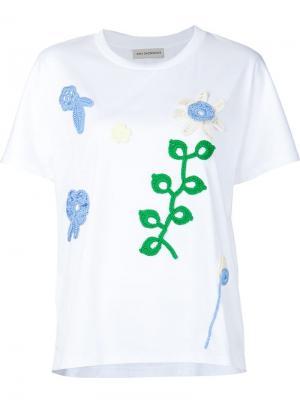 Crochet appliqué T-shirt Vika Gazinskaya. Цвет: белый