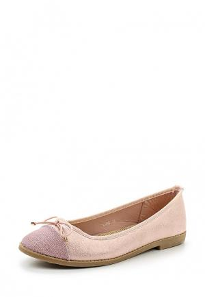 Балетки Anesia. Цвет: розовый