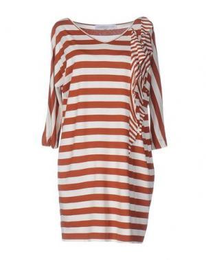 Короткое платье LA FABBRICA del LINO. Цвет: коричневый