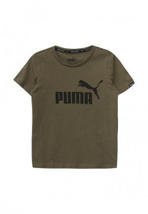 Футболка Puma. Цвет: хаки