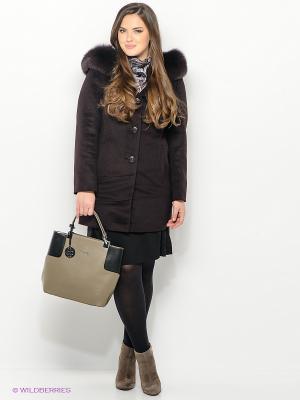 Пальто Electrastyle. Цвет: темно-коричневый