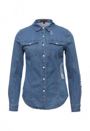 Рубашка джинсовая Missi London. Цвет: синий