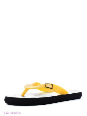 Шлепанцы Effa. Цвет: желтый