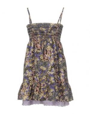 Короткое платье GANESH. Цвет: фиолетовый