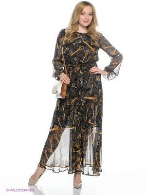 Платье AVELON. Цвет: серый