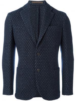 Пиджак на одну пуговицу Eleventy. Цвет: синий