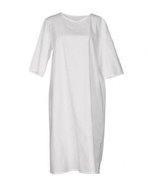 Платье до колена TOOGOOD. Цвет: белый