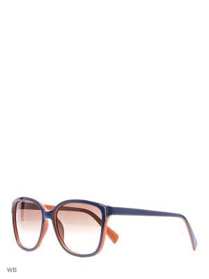 Солнцезащитные очки Modis. Цвет: синий, рыжий