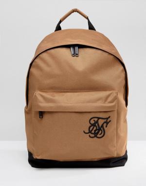 SikSilk Бежевый рюкзак. Цвет: светло-серый