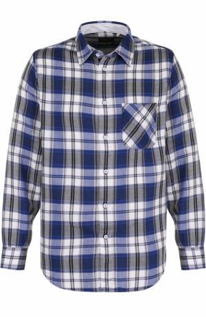 Хлопковая рубашка в клетку Rag&Bone. Цвет: синий