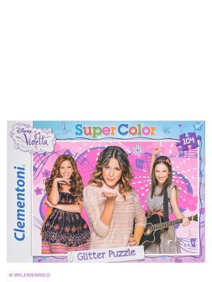 Пазл Disney Виолетта 104 эл. Clementoni. Цвет: белый, голубой, фиолетовый