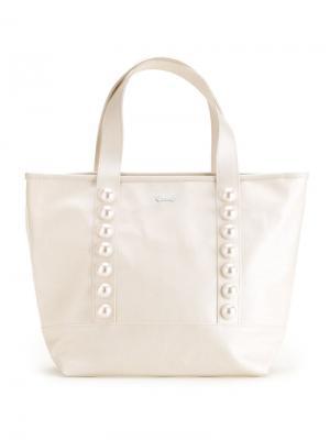 Декорированная сумка-тоут Muveil. Цвет: белый