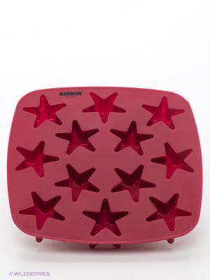 Форма для льда Звездочки Bekker. Цвет: бордовый