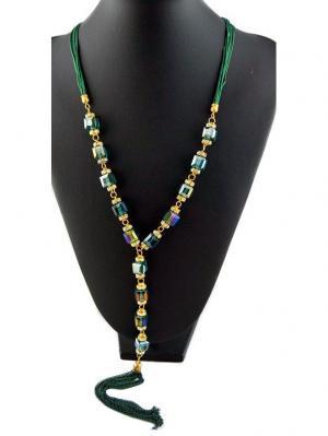 Колье Miss Bijou. Цвет: зеленый, прозрачный, золотистый