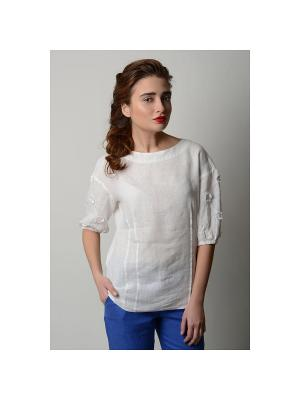 Блуза Катье LINO RUSSO. Цвет: белый