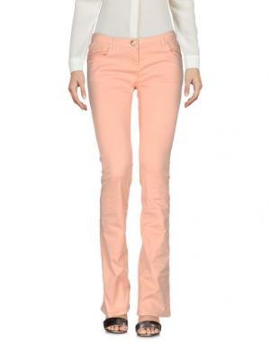 Повседневные брюки PARIS HILTON. Цвет: абрикосовый