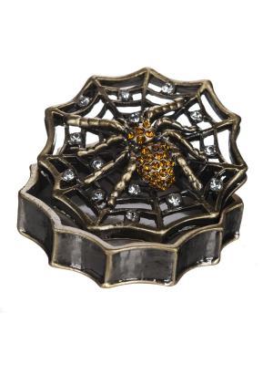 Шкатулка Паутинка в п/у. Elff Ceramics. Цвет: коричневый, черный