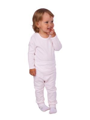 Комплект одежды Апрель. Цвет: розовый, молочный
