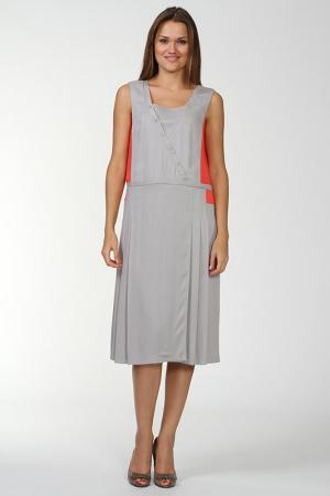 Платье Gouache. Цвет: серый