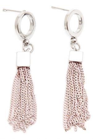 Серьги Asavi Jewel. Цвет: серебряный, розовый, золотой