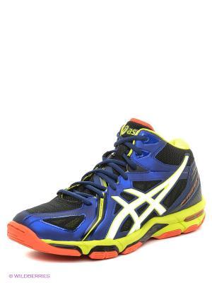 Волейбольные кроссовки Gel-Volley Elite 3 Mt ASICS. Цвет: черный, белый, синий