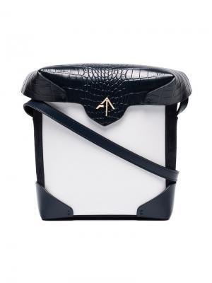 Мини сумка через плечо Pristine Manu Atelier. Цвет: белый