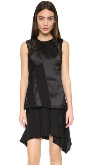 Платье с перекрещенными вставками на спине 3.1 Phillip Lim. Цвет: голубой