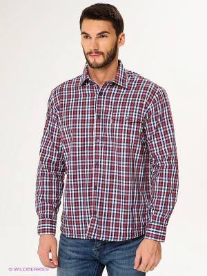 Рубашка Maestro. Цвет: темно-синий, красный, белый