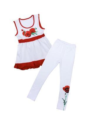 Комплект одежды Апрель. Цвет: белый, красный