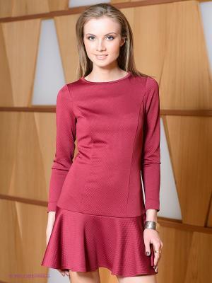 Платье Satin. Цвет: бордовый