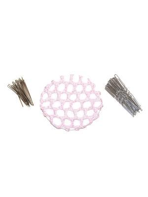 Набор для волос (сетка на пучок, 20 невидимок, шпилек) Lola. Цвет: розовый