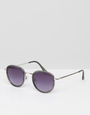 AJ Morgan Серые круглые солнцезащитные очки. Цвет: серый