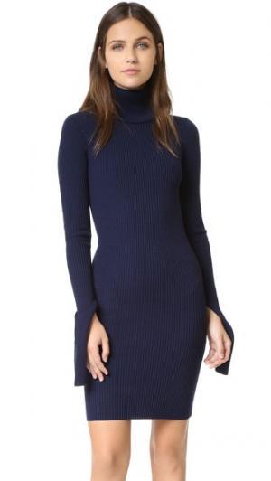 Платье с воротником под горло Jacquemus. Цвет: темно-синий