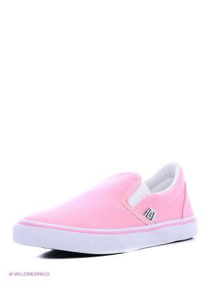 Слипоны 4U. Цвет: розовый, светло-серый
