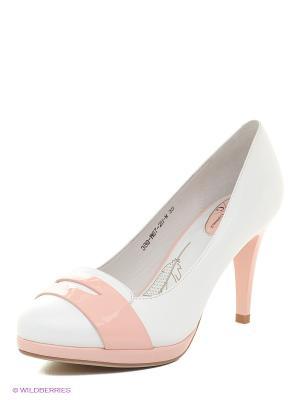 Туфли Sinta Gamma. Цвет: белый, бледно-розовый