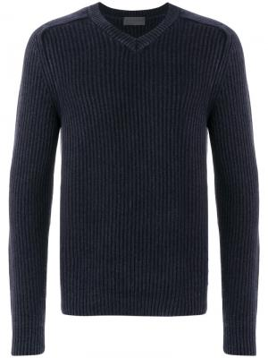Пуловер с V-образным вырезом Iris Von Arnim. Цвет: синий