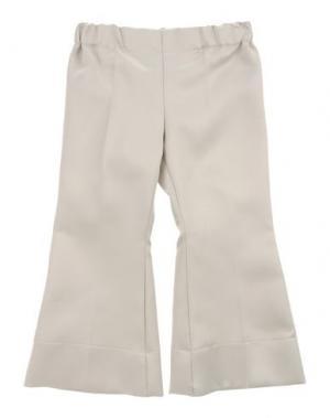 Повседневные брюки LA STUPENDERIA. Цвет: светло-серый
