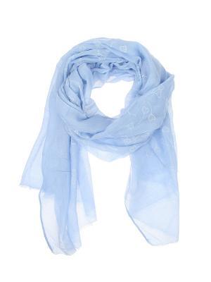 Палантин Migura. Цвет: голубой, белый