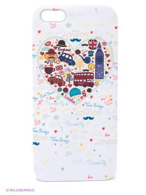 Чехол для IPhone 5 London - белое сердце Mitya Veselkov. Цвет: белый