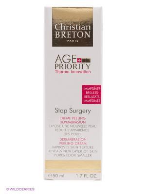 Крем Age Priority - Christian Breton Stop Surgery Peel Microabrasion Paris. Цвет: золотистый, белый