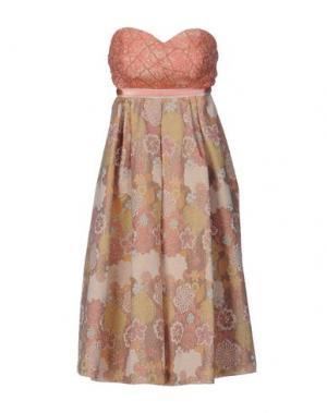 Платье до колена NORA BARTH. Цвет: лососево-розовый