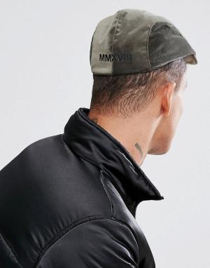 ASOS Велюровая кепка цвета хаки с вышивкой. Цвет: зеленый