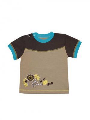 Футболка Курская швейная компания. Цвет: коричневый, светло-коричневый