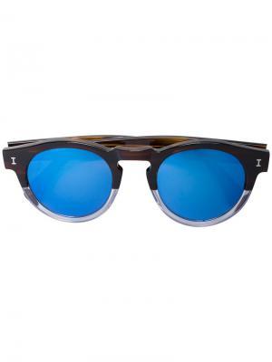 Солнцезащитные очки Leonard 48 с черепаховым эффектом Illesteva. Цвет: коричневый