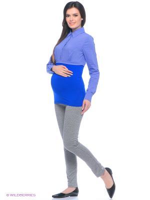 Брюки для беременных 40 недель. Цвет: серый