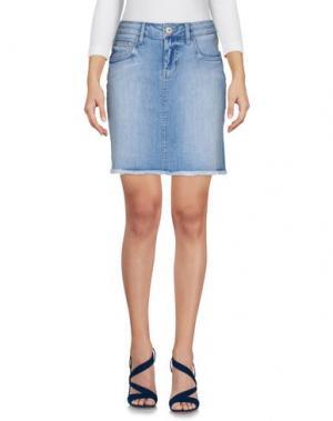 Джинсовая юбка MELTIN POT. Цвет: синий